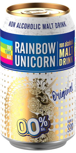 Rainbow Unicorn non-alcoholic malt drink Oryginal